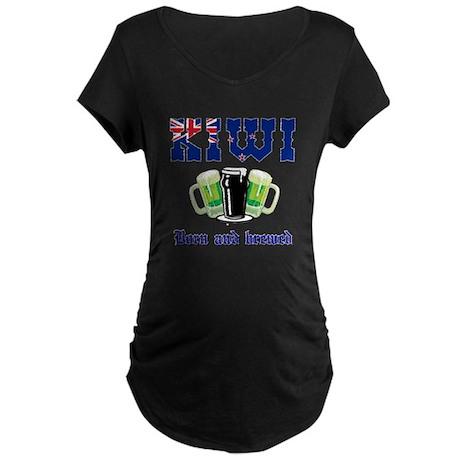 Kiwi born and bred Maternity Dark T-Shirt