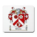 White Family Crest Mousepad