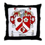 White Family Crest Throw Pillow
