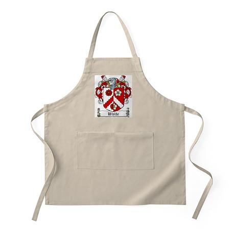 White Family Crest BBQ Apron