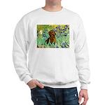 Irises & Dachshund Sweatshirt