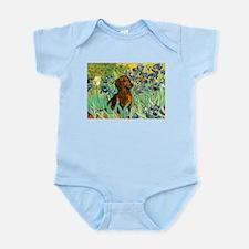 Irises & Dachshund Infant Bodysuit
