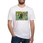 Irises & Dachshund Fitted T-Shirt