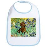 Irises & Dachshund Bib