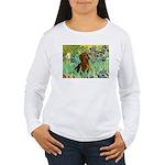 Irises & Dachshund Women's Long Sleeve T-Shirt