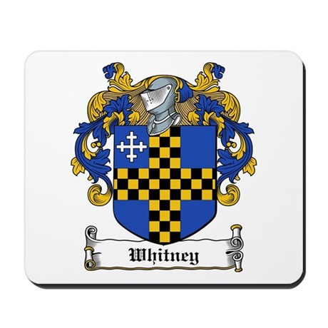 Whitney Family Crest Mousepad
