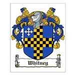 Whitney Family Crest Small Poster