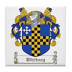 Whitney Family Crest Tile Coaster