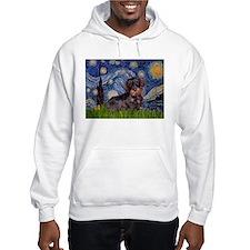 Starry Night Dachshund (Wire) Hoodie