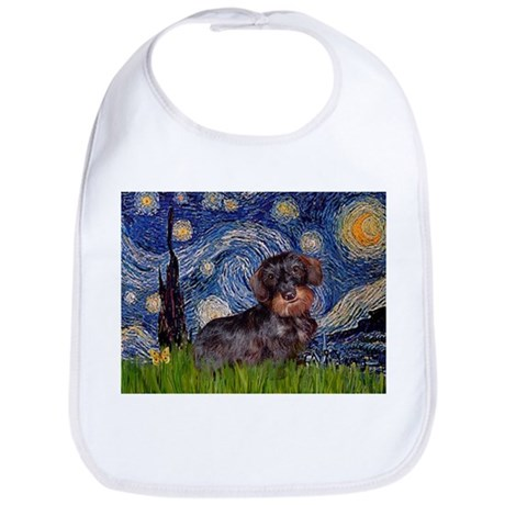 Starry Night Dachshund (Wire) Bib