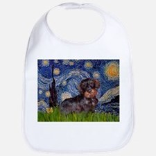 Starry Night Dachshund (Wire) Bib