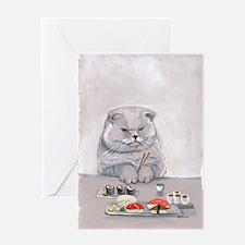 Dinner Date? Sushi Cat Card