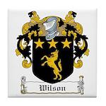 Wilson Family Crest Tile Coaster