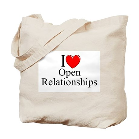 """I Love (Heart) Open Relationships"" Tote Bag"