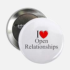 """I Love (Heart) Open Relationships"" 2.25"" Button"
