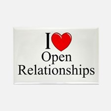 """I Love (Heart) Open Relationships"" Rectangle Magn"