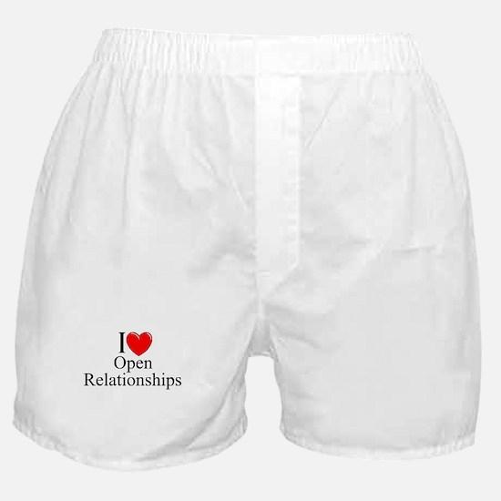 """I Love (Heart) Open Relationships"" Boxer Shorts"