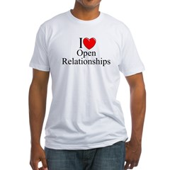 """""""I Love (Heart) Open Relationships"""" Fitted T-Shirt"""