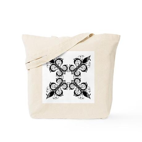 Medieval Fleur de lis (black) Tote Bag