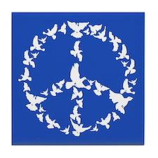 Cute Peace earth Tile Coaster