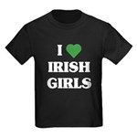 I Love Irish Girls Kids Dark T-Shirt