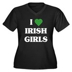 I Love Irish Girls Women's Plus Size V-Neck Dark T