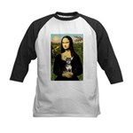 Mona Lisa / Chihuahua Kids Baseball Jersey