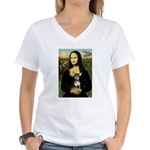 Mona Lisa / Chihuahua Women's V-Neck T-Shirt