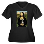 Mona Lisa / Chihuahua Women's Plus Size V-Neck Dar