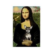Mona Lisa / Chihuahua Rectangle Magnet