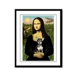 Mona Lisa / Chihuahua Framed Panel Print