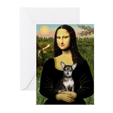 Mona Lisa / Chihuahua Greeting Cards (Pk of 20)