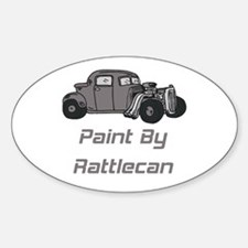 Rat Rod Paint By Rattlecan Oval Decal