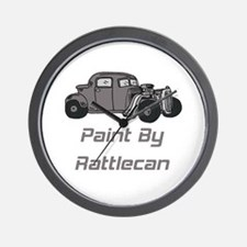 Rat Rod Paint By Rattlecan Wall Clock