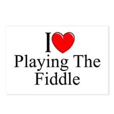 """""""I Love (Heart) Playing The Fiddle"""" Postcards (Pac"""