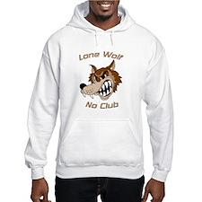 Lone Wolf, No Club Hoodie