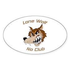 Lone Wolf, No Club Oval Decal