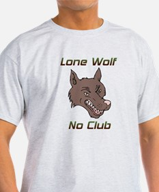 Snarling Lone Wolf No Club T-Shirt