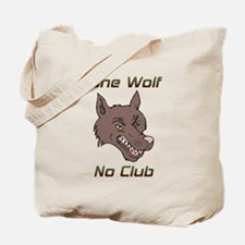 Snarling Lone Wolf No Club Tote Bag