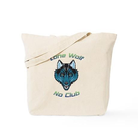 Growling Lone Wolf No Club Tote Bag