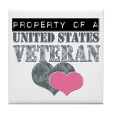 Property of a US Veteran Tile Coaster