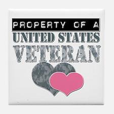 Property of a US Veteran Tile Coaster