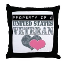 Property of a US Veteran Throw Pillow