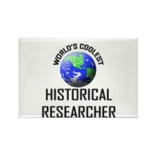 World's Coolest HISTORICAL RESEARCHER Rectangle Ma