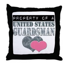 Property of a US Guardsman Throw Pillow