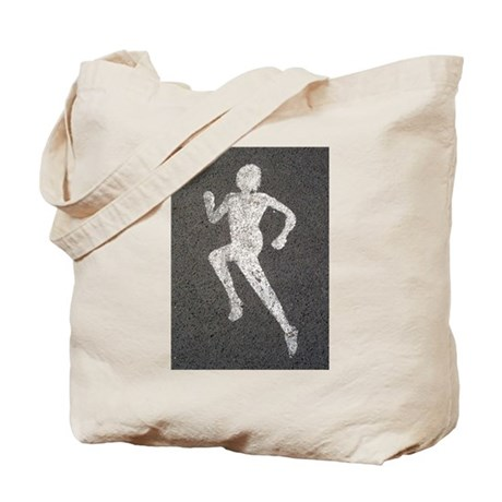 Runner on Road Tote Bag