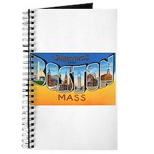 Boston Massachusetts Greetings Journal