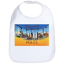 Boston Massachusetts Greetings Bib