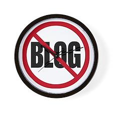 No Blogging Wall Clock