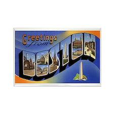 Boston Massachusetts Greetings Rectangle Magnet
